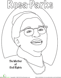 Rosa Parks Coloring Daisy ScoutsGirl Scout DaisiesGirl ScoutsBlack History Month ActivitiesColoring WorksheetsColoring