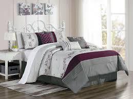 11 pc floral vine comforter curtain set antique silver