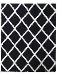 shaggy teppich wohnzimmer schwarz hochflor langflor flauschig modern läufer flur küche designer