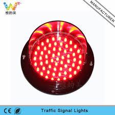 high quality 125mm color led traffic signal l wide way