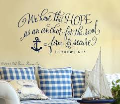 Gone With The Wind Curtain Dress Quote by Hope Wall Quote We Have This Hope As An Anchor For The Soul