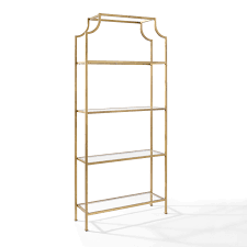 Gold Shelves And Bookcases