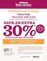 Join us for Cost Plus World Market s Friends & Family Fall Event