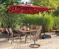 wilson fisher rectangular offset solar light umbrella 11 x 8