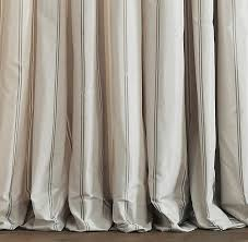 Restoration Hardware Curtain Rod Extension by Silk Taffeta Multistripe Drapery
