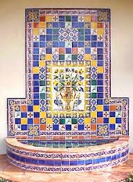 Wall Fountain With Lights Using Mexican Tiles By Kristiblackdesigns