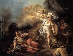 The Combat Of Mars And Minerva 1771 By Jacques Louis David