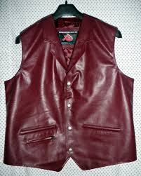 leather vest western style mlv85 for sale