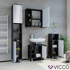 vicco badschrank fynn 190 cm badezimmerschrank hochschrank