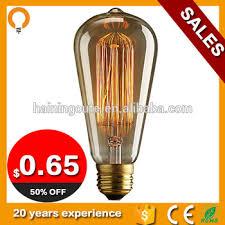 vintage edison bulb squirrel cage filament bulb st64 40w e27