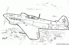 Small Plane Coloring Pages Hellokidscom