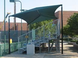Outdoor Shade Canopy Baseball Bleachers Snider & Associates