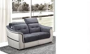 canapé relax 2 places blanc et gris hcommehome