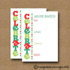 Fill In The Blank Invitation Christmas Party Invitation Etsy