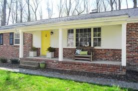 Columns On Front Porch by How We Boxed Out Our Old Curvy Porch Columns Young House Love