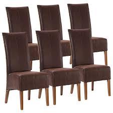 voglrieder rattanstühle set antonio 6 stück polsterstühle esszimmer stühle braun grau oder schwarz cognac möbel und schönes