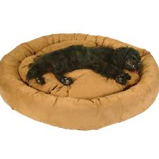 snoozer luxury round bolster pet bed