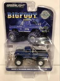 100 Bigfoot Monster Truck Toys Greenlight 1974 Ford F250 1979 Blue 164