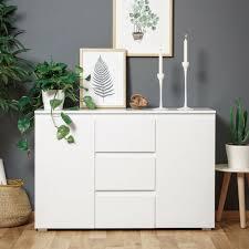 sideboard beistellschrank kommode weiß matt wohnzimmer