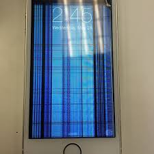 Cracked iPhone 5S screen If your screen looks like this don t
