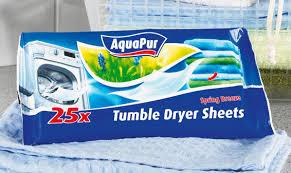 25 lingettes absorbantes pour sèche linge lidl