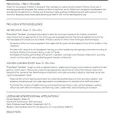 Early Childhood Education Resume Samples Assistant Sample With Teacher