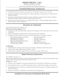 Objective For Pharmacy Technician Resume Duties Ideas Example Examples