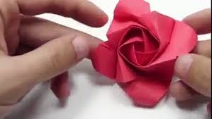 Papercraft How To Make Origami Rose Instructions Step By