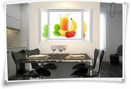 3d fenster wandbild wandtattoo aufkleber saft früchte