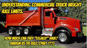 100 What Is A Tandem Truck Understanding Commercial Xle Weight Limits Tri Xle VS