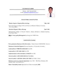 Dubai Resume Format