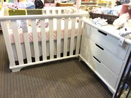 Storkcraft Dresser And Hutch by Imagio Baby Midtown Island Crib And 3 Drawer Dresser In White