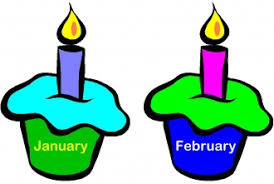Cupcakes Months of the Year or Birthday Chart