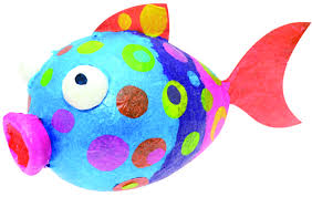Tissue Fish Balloon And Paper Kids Craft Great Idea For Childrens