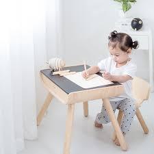 kinder tisch stuhl aus öko holz in schwarz 2 tlg