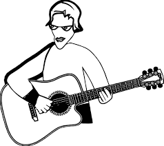 Play Guitar Hi Playing The Coloring Page