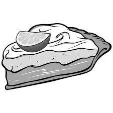 Key Lime Pie Illustration vector art illustration