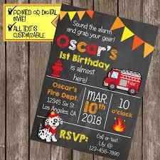 Fire Truck Birthday Party Invitations Free Envelopes Engine Photo ...