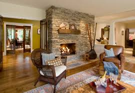 Rustic Is A Luxurious Simplicity Exquisite Rudeness Natural Thoughtfulness Cozy Fireplace In The Interior Design Style