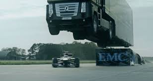 100 Truck Jumping Incredible Video Of A Semitruck Jumping Over A Formula 1 Racecar