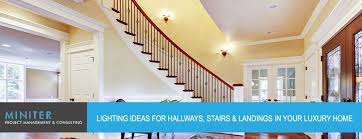lighting ideas for hallways stairs and landings in your luxury home