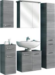 pelipal badmöbel set alika 5 tlg spiegelschrank inkl led beleuchtung metallgriffe türdämpfer glaseinlegeböden kaufen otto