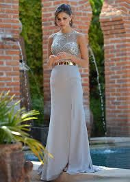 colors 1449 silver beaded prom dress bridesmaid evening gown this