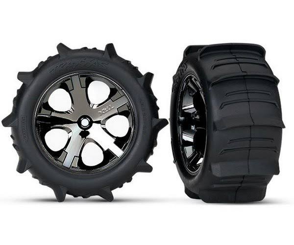 Traxxas Rustler Sand Paddle Tires & Wheels