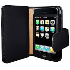 Frama Leather Wallet Case for Apple iPhone 3GS 3G Black