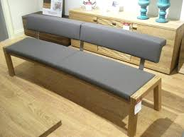 Cushioned Dining Bench With Back High Upholstered Low Room