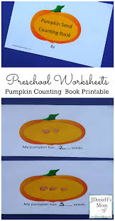 Printable Pumpkin Books For Preschoolers by Preschool Worksheets Pumpkin Counting Book Printable
