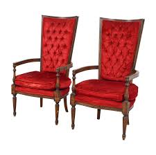 79% OFF - Vintage Red Tufted High Back Accent Chairs / Chairs Shop Silver Orchid Hayworth 45 Tufted High Back Red Velvet Accent Cheap Chair Find Deals On Line At Alvi Highback West Elm Canada Living Room Chairs Celebrity Rooms Costway Race Car Style Bucket Seat Office Desk French Balloon Throne 2 Avail Reproduction Antoine Fabric Armchair Habitat Chesterfield Wing Chair Ftstool Designersofas4u Gym Equipmentliving Ding Set Of 6 For Sale Pamono Windaze Button Cushioned