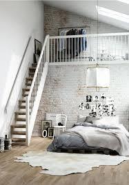 Inspirations Pour Des Murs De Briques Loft ClosetLoft BedroomsLoft Bedroom DecorHigh Ceiling BedroomDesign