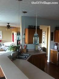 kitchen lighting jar lights rectangular clear rustic fabric